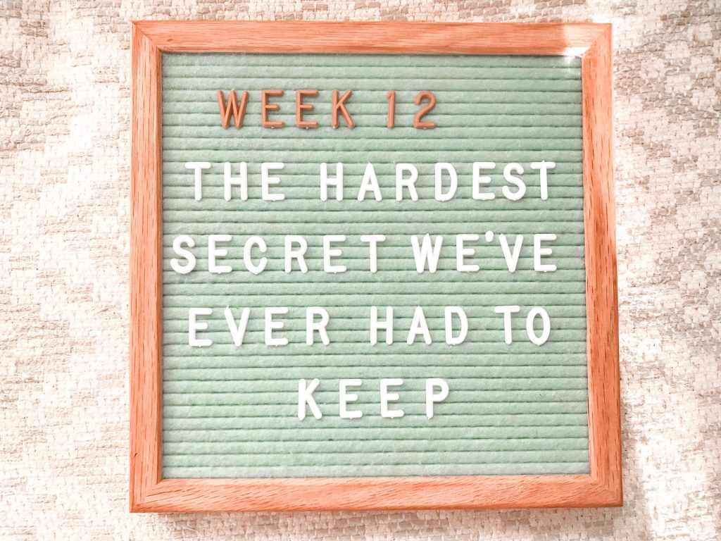 Pregnancy Month Three - The Hardest Secret We've Ever Had to Keep