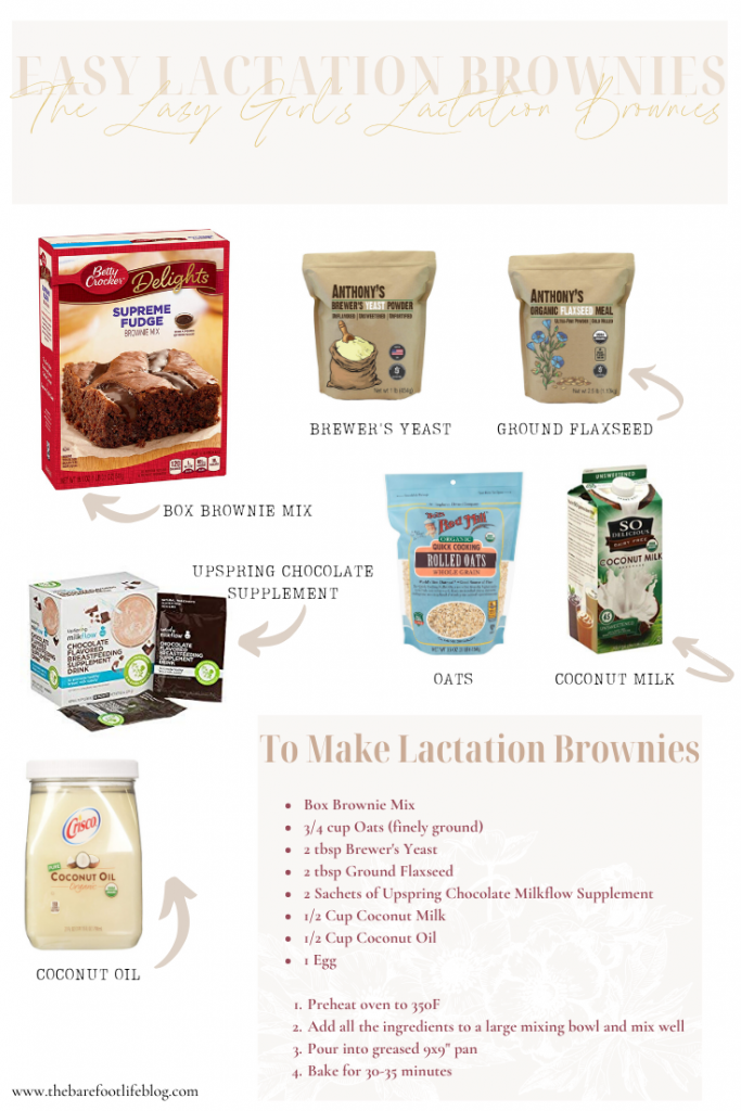 Easy Lactation Brownies
