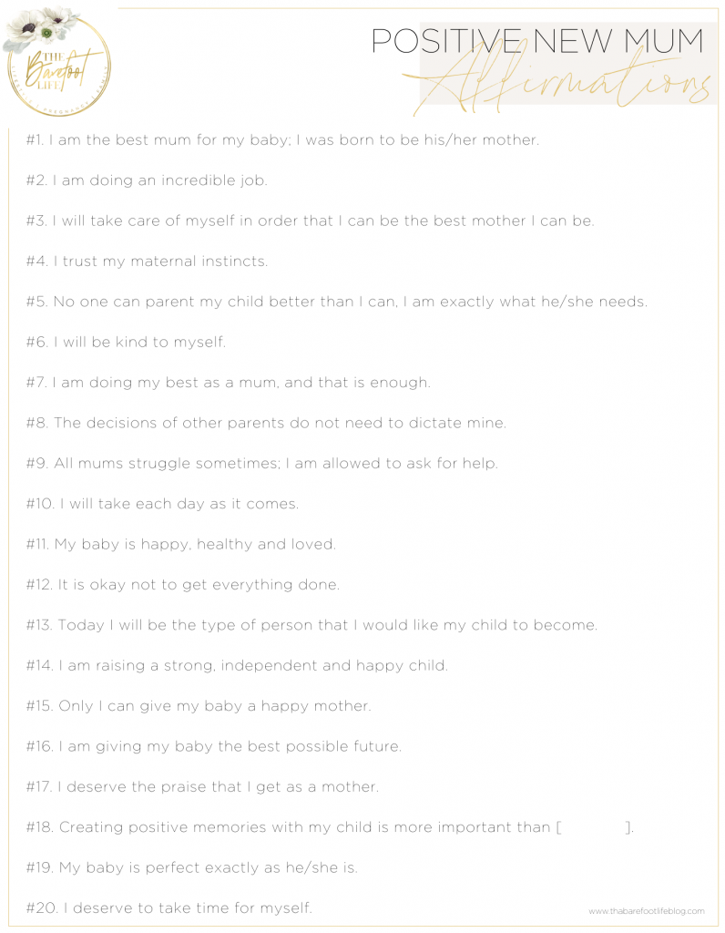 Positive Affirmations for New Mums